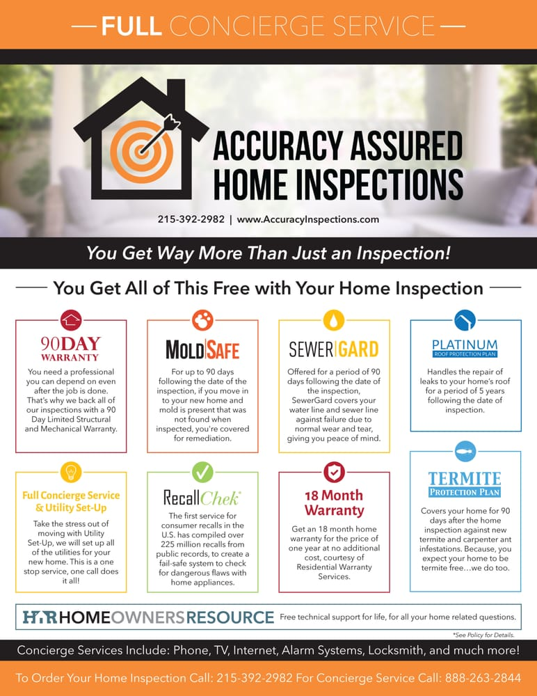 Accuracy Assured Home Inspections - Home Inspectors - 1629 Christian St,  Graduate Hospital, Philadelphia, PA - Phone Number - Yelp