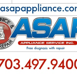 Asap Appliance Service Appliances Amp Repair 2861 Ps