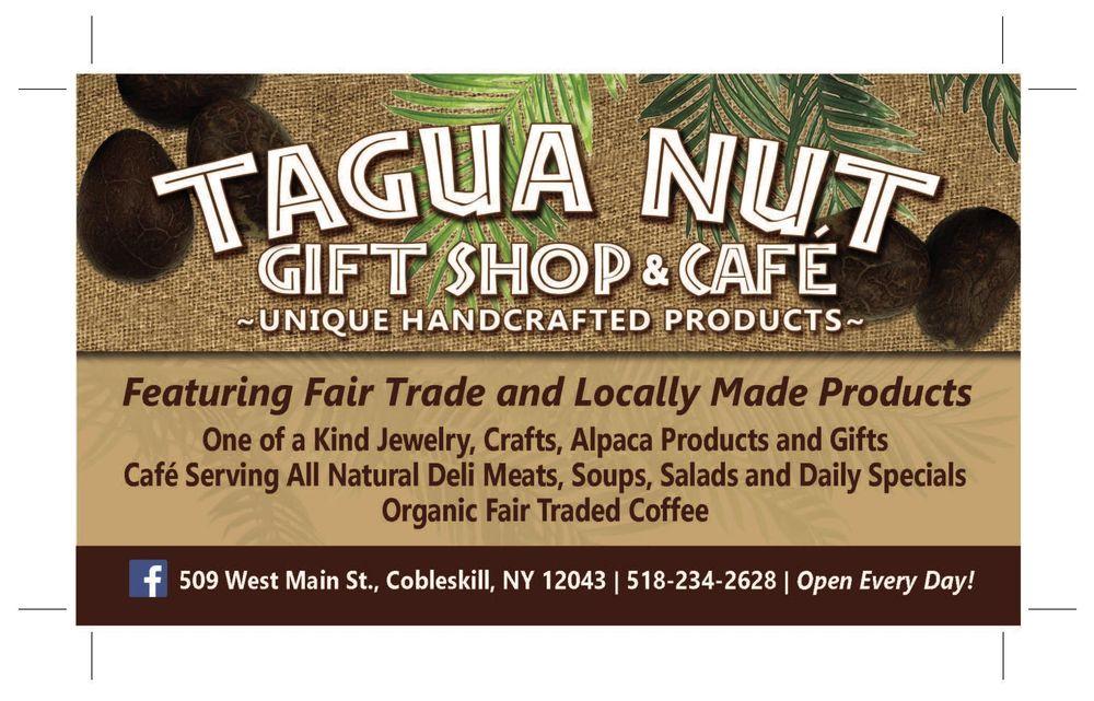 Tagua Nut Gift Shop & Cafe: 509 W Main St, Cobleskill, NY