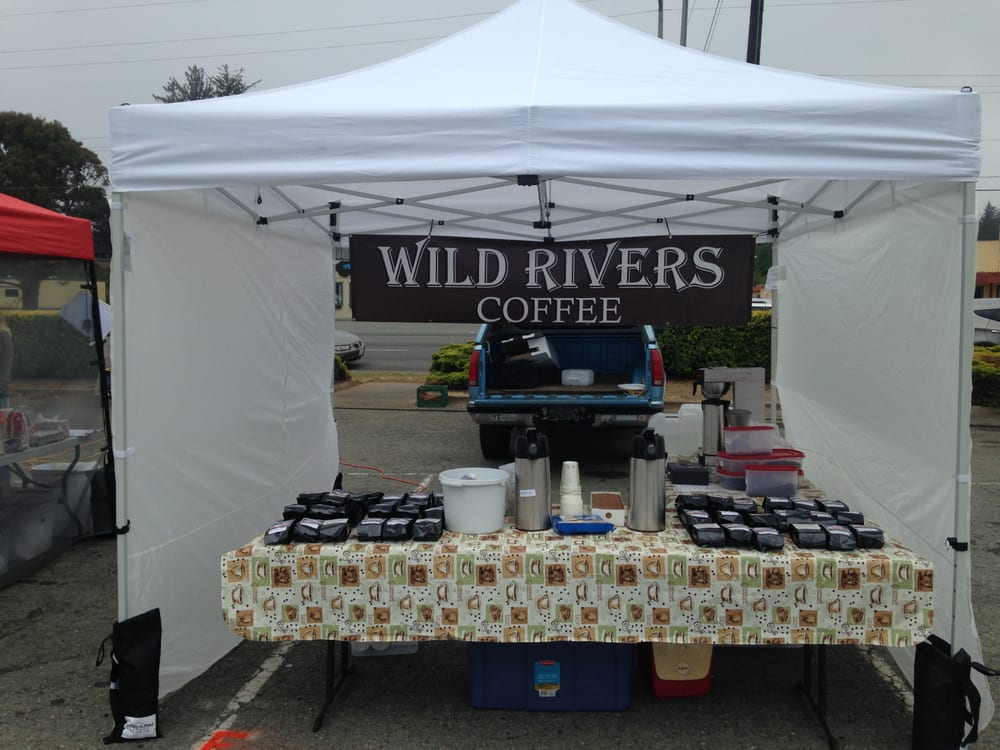 Wild Rivers Coffee: Crescent City Farmers Market, Crescent City, CA