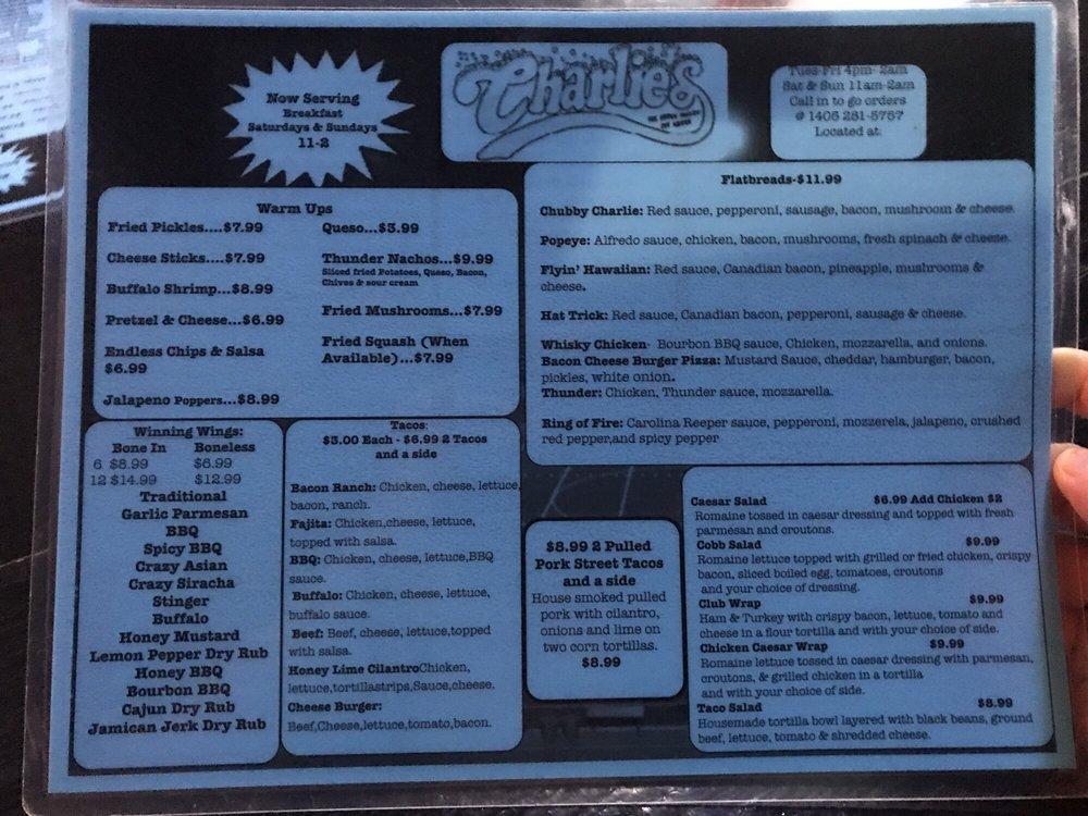 Charlie's Sports Bar & Grill: 14530 NE 20th, Choctaw, OK