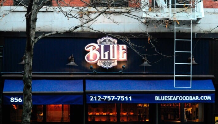 Blue Seafood Bar Hell S Kitchen