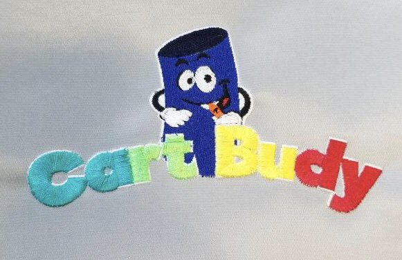 Clean embroidery of the Cart Budy logo  The hat that the