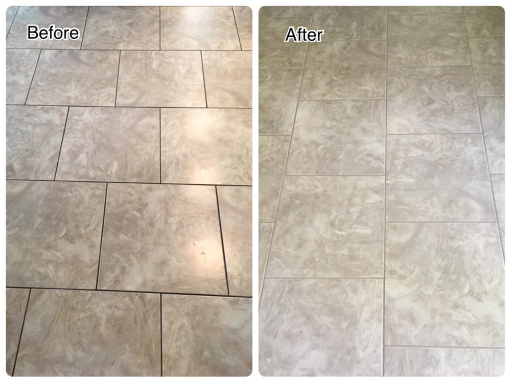 Grout recoloring before and after - Yelp