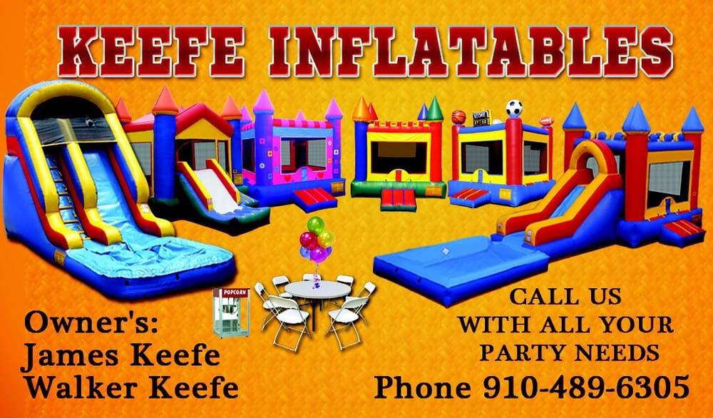 Keefe Inflatables: 84 Emma Ct, Linden, NC