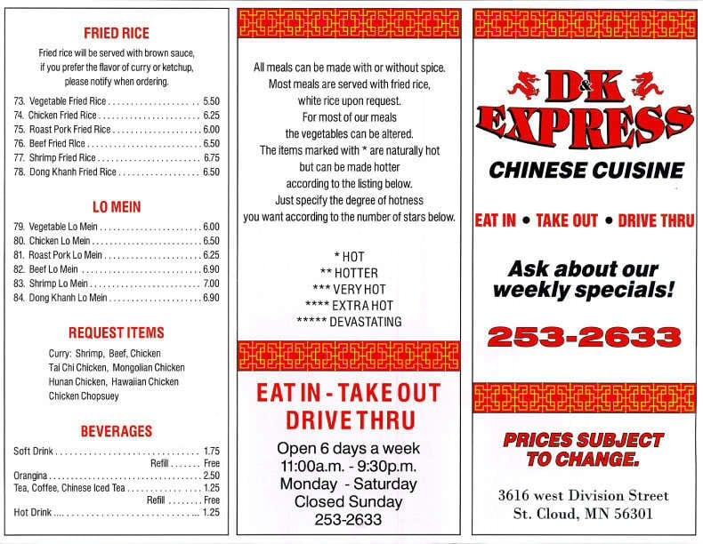 D&K Express: 3616 W Division St, St. Cloud, MN