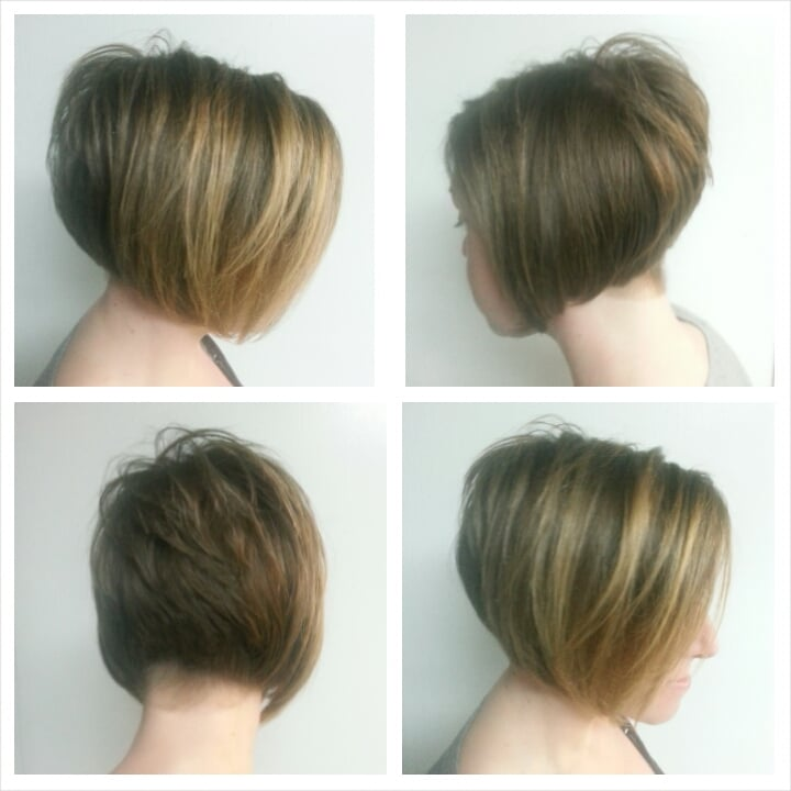 Texture Stacked Undercut Shaved Bob Haircut Yelp