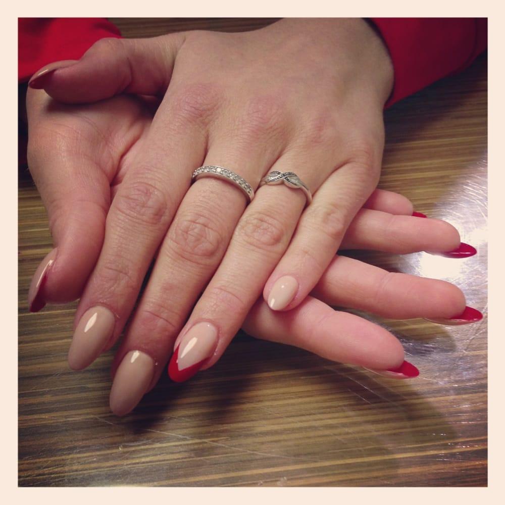 Almond shaped acrylic nails - Yelp