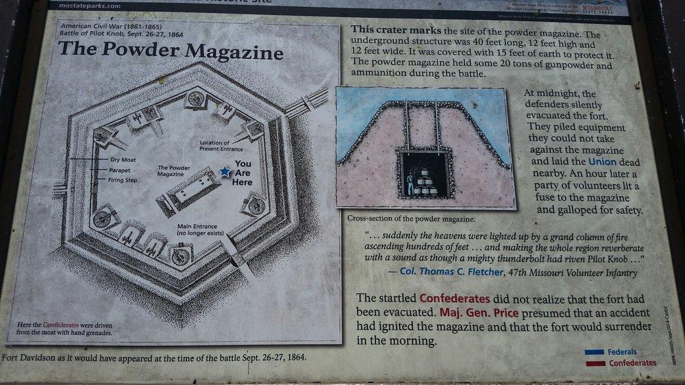 Fort Davidson State Historic Site: Highway V, Pilot Knob, MO