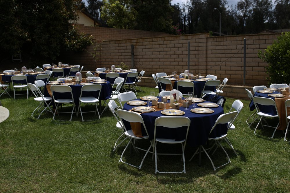 Full Table Layout. Rentals: Round Tables, White Folding ...