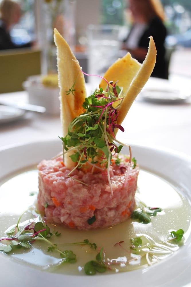 Wawa Gas Prices Near Me >> Tuna tartare with micro greens and crostini atop melon water - Yelp