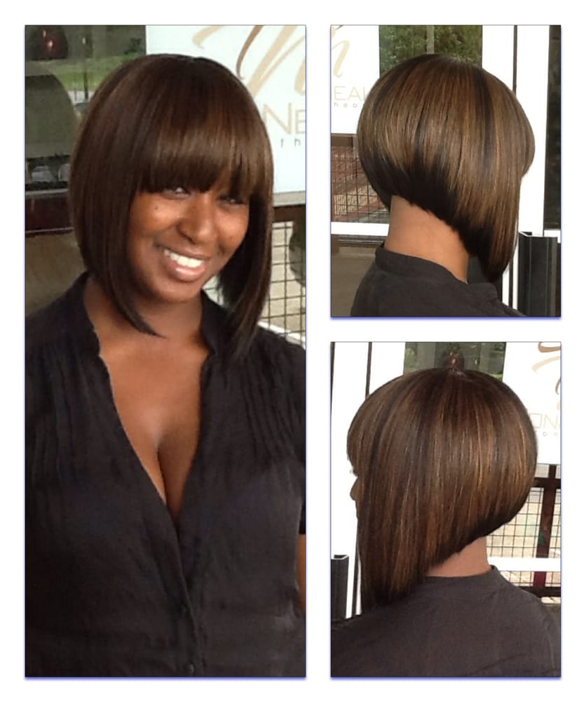 Toni Neal stylist- full sew-in inverted bob - Yelp