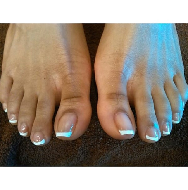 Spa Pedicure With French Tip Design By Me! - Yelp