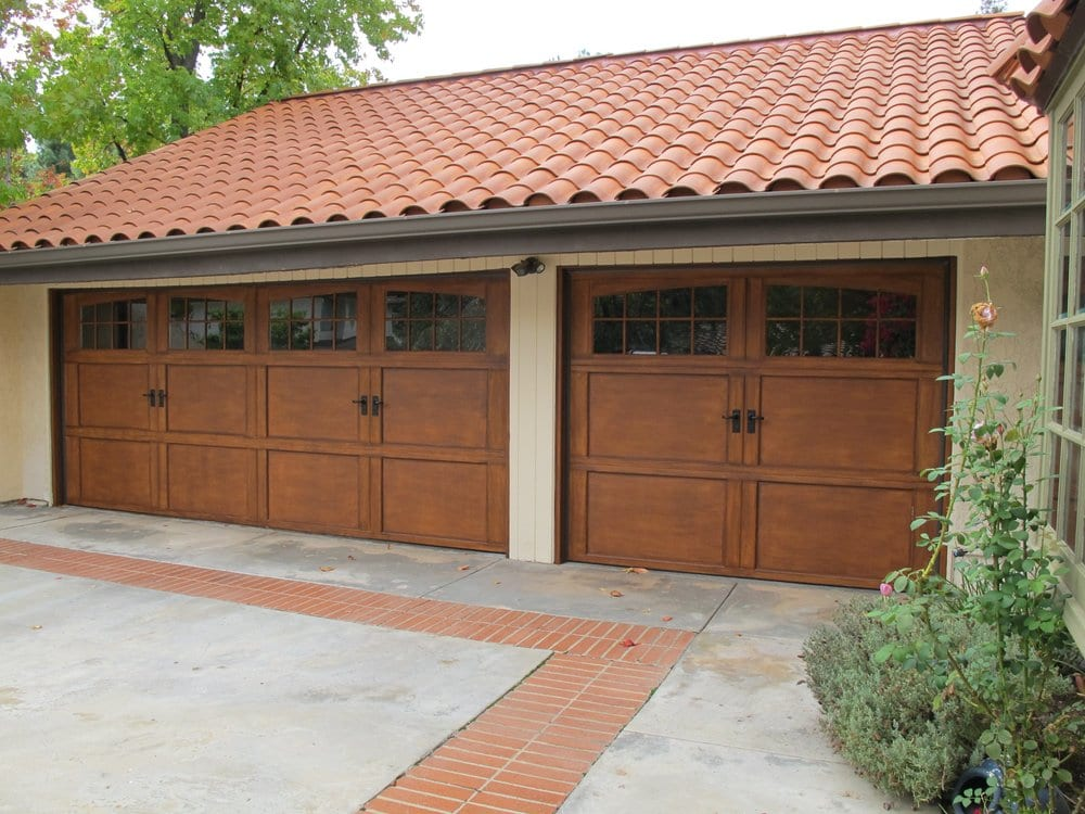 Wd Model 9700 Steel Garage Doors With A Faux Finish To