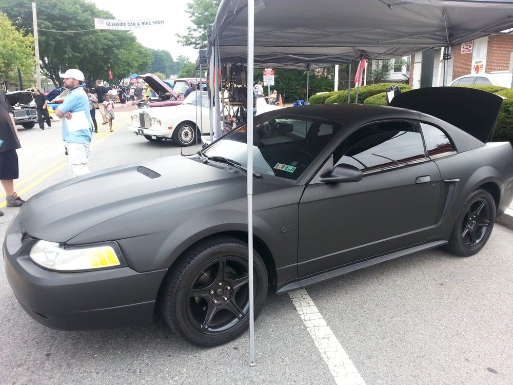 Mustang Matte Black Car Wrap Yelp