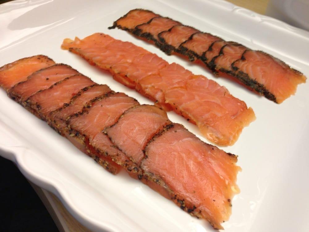 3 flavors smoked salmon plated - Yelp
