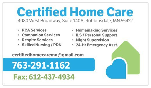 Certified Home Care - Home Health Care - 4080 W Broadway Ave ...