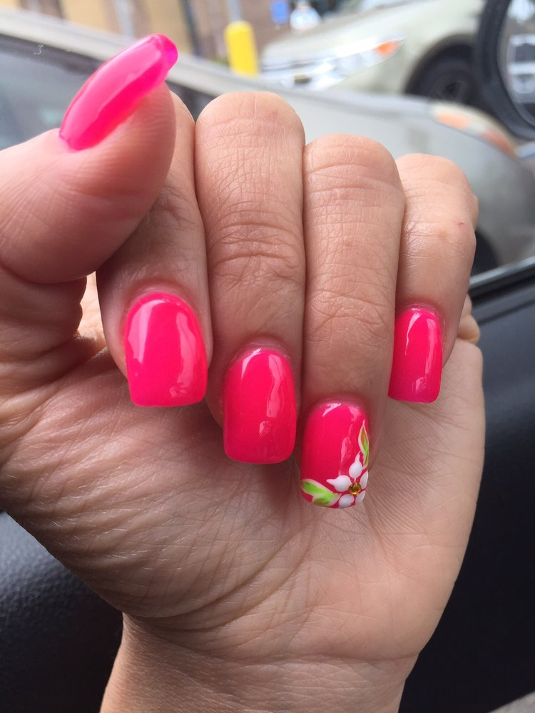 Photo of Happy Design Nails - Vista, CA, United States. My ten perfect - My Ten Perfect Gel Nails With A Cute Design, I Love It! - Yelp