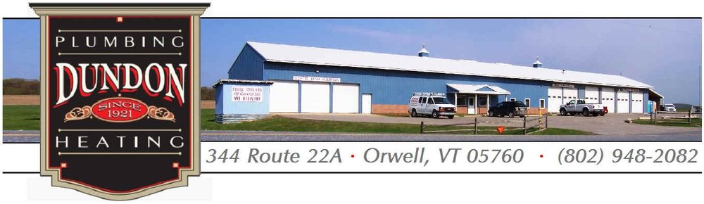 Dundon Plumbing Heating & Portable Restrooms: 344 Route 22A, Orwell, VT