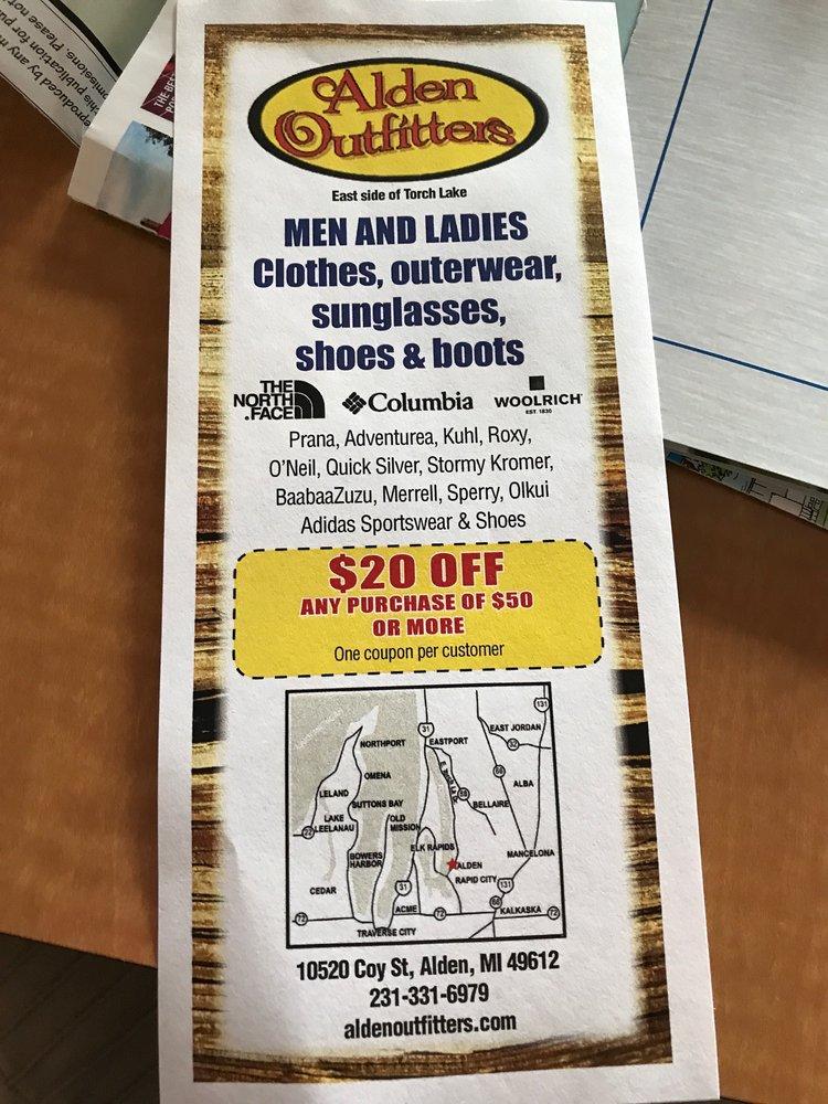 Alden Outfitters: 10520 Coy St, Alden, MI