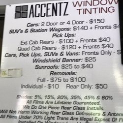 Window Tinting Prices Near Me >> Accentz Window Tinting 2019 All You Need To Know Before You Go