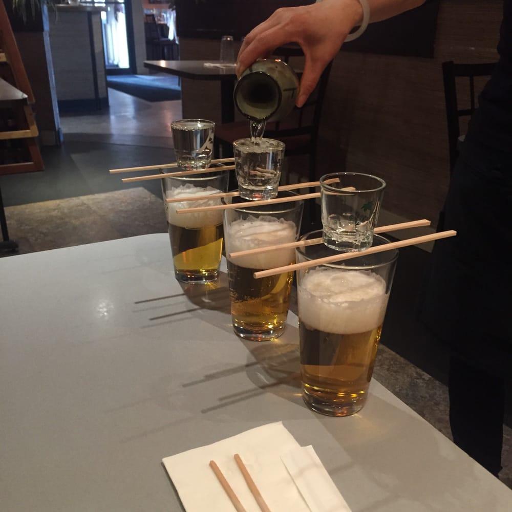 1st round of sake bomb.. - Yelp