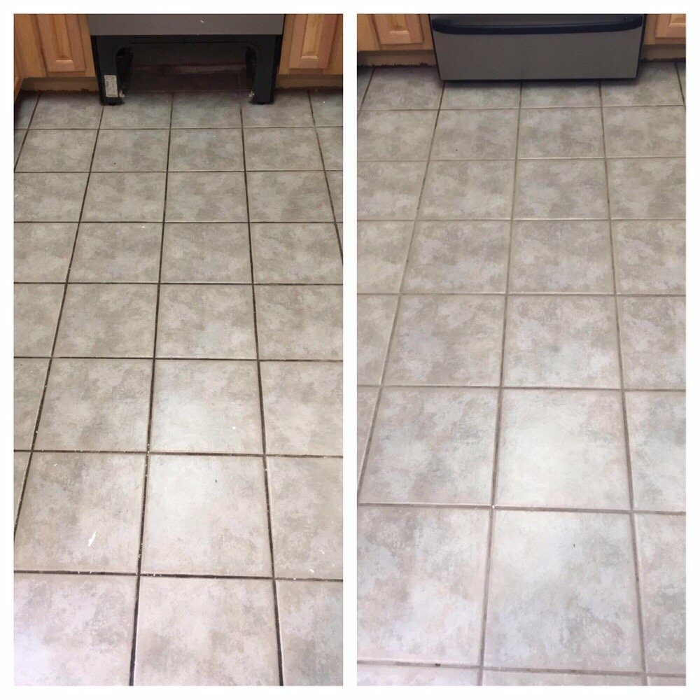 Ceramic Tile Before After Cleaning With Truck Mounted System Yelp