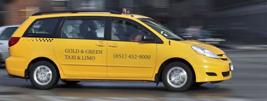 Gold and Green Taxi