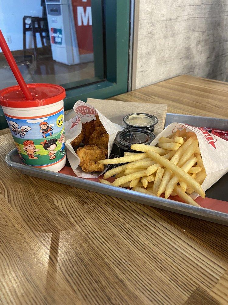 Food from Fat Burger & Buffalo's Express