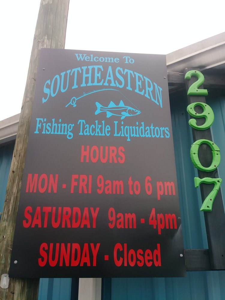 Southeastern Fishing Tackle Liquidators: 2907 N Florida Ave, Tampa, FL