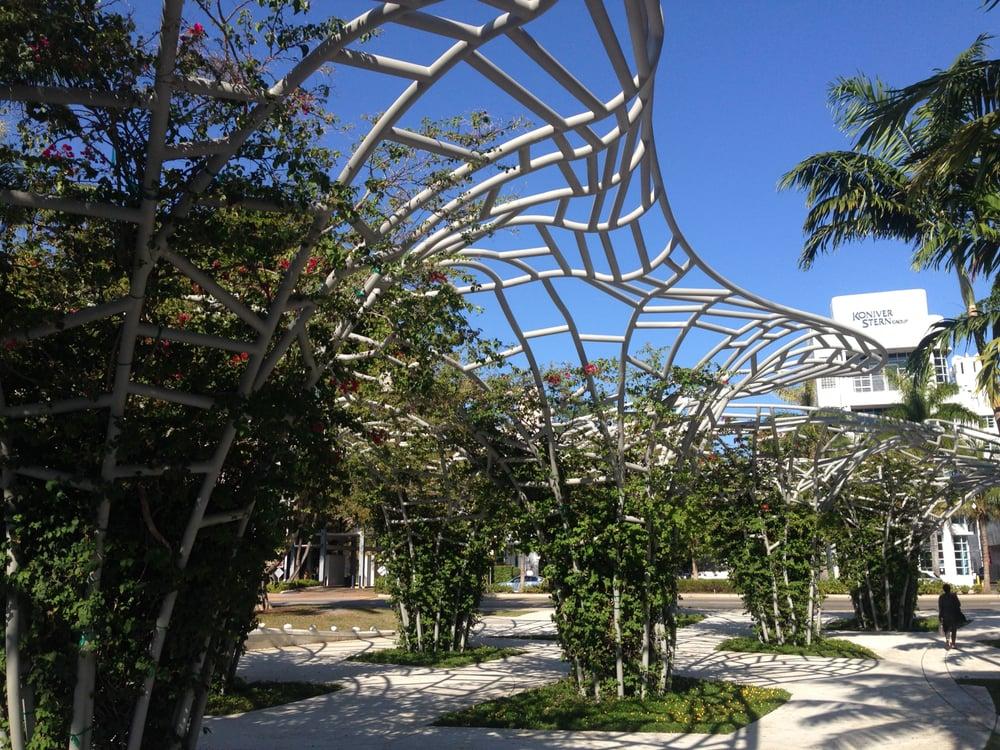 Lincoln Road Mall Miami Beach Fl Vereinigte Staaten