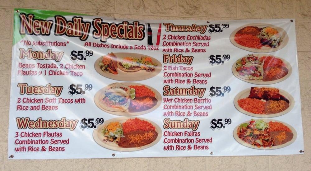 daily restaurant specials