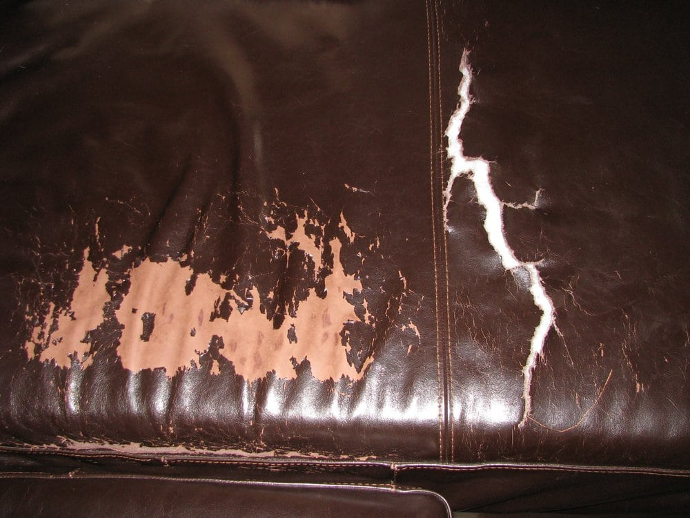 Peeling And Ripped Leather Of My Four Hands Sofa Yelp