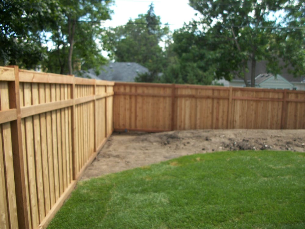 6 Cedar 3 Rail Capped Privacy Fence Minneapolis Mn Yelp