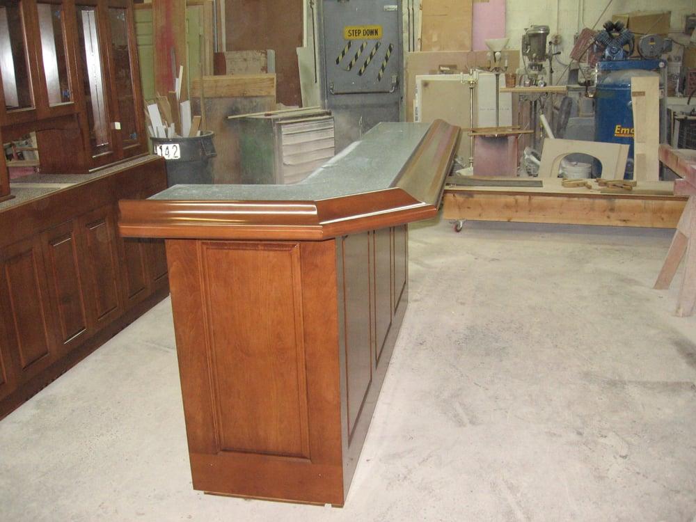 Custom built bar with granite countertops yelp for Granite countertop support requirements