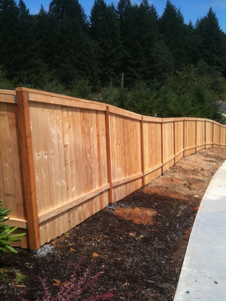 Privacy Style Fence With Top Cap Yelp