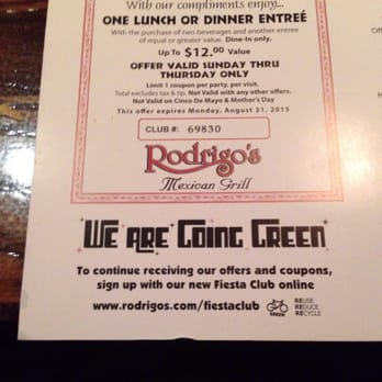 rodrigo mexican restaurant coupons