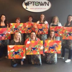 Uptown art 54 photos 21 avis paint sip 2458 for Paint and sip louisville co