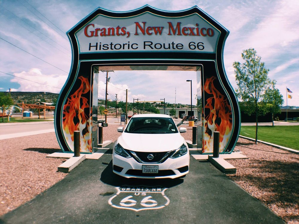 Route 66 Neon Drive Thru: 600 W Santa Fe Ave, Grants, NM