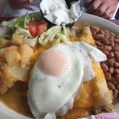 Photo Of El Patio De Albuquerque   Albuquerque, NM, United States. Chicken  Enchilada