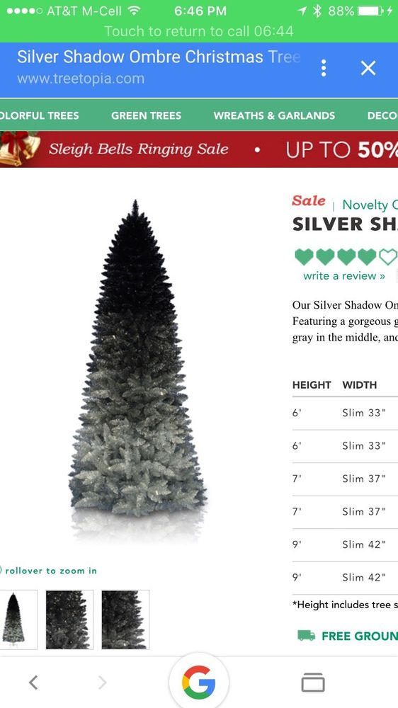 Treetopia Black And Silver Ombre Christmas Tree Yelp