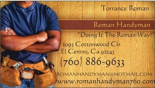 Roman Handyman: El Centro, CA