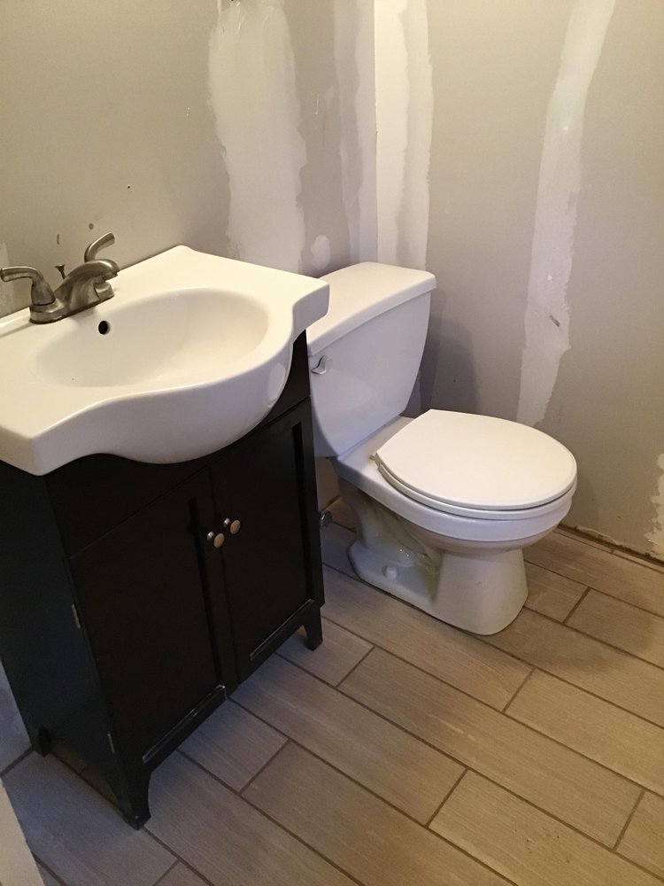 Bathroom tile, sink and toilet install - Yelp