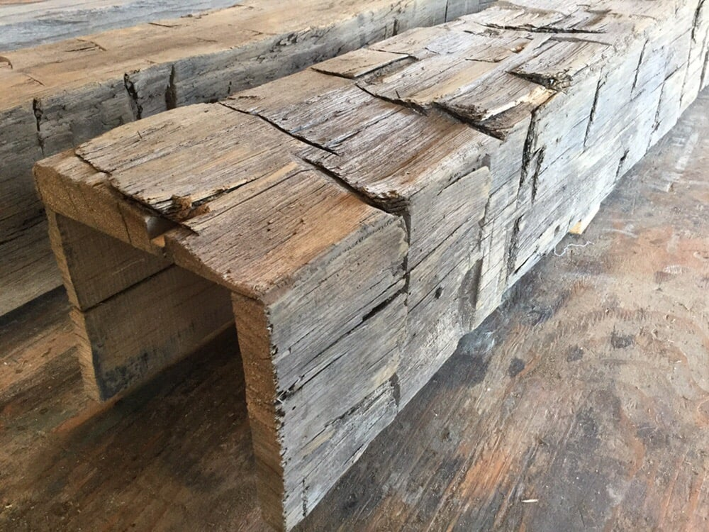 Hand hewn box beams are an e k vintage wood specialty yelp for Wood box beam