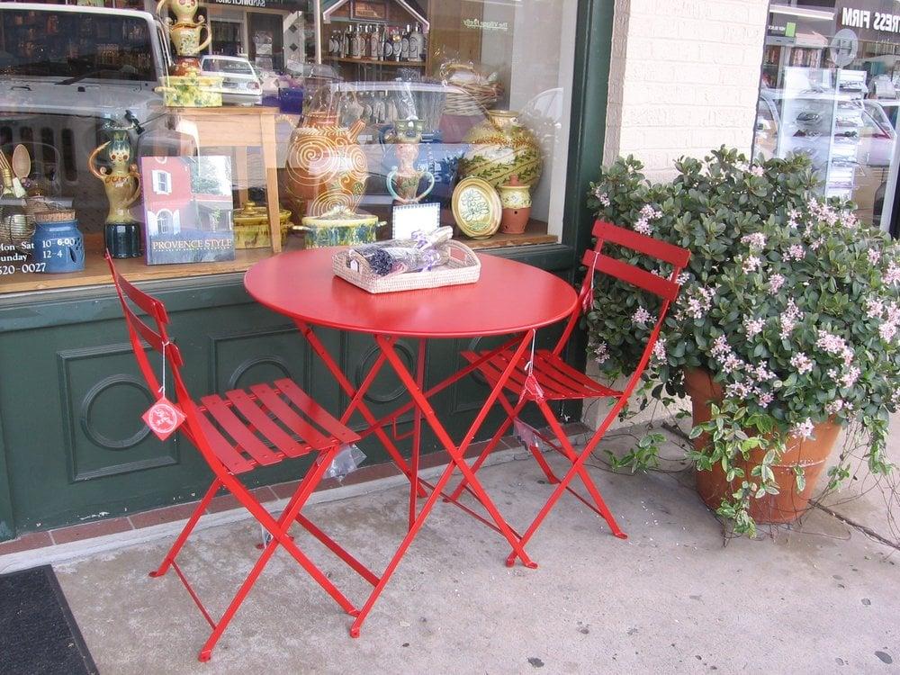 Beau Photo Of La Taste   Houston, TX, United States. Poppy Red Bistro Table