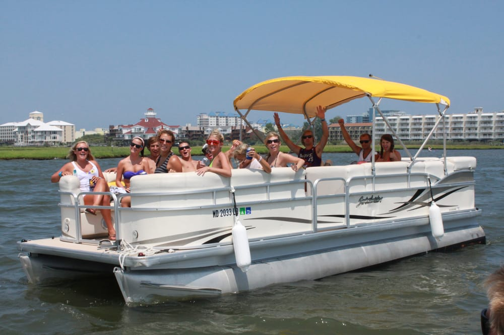 Pontoon boats at bayside boat rentals can hold up to 10 13 for Ocean city nj fishing report