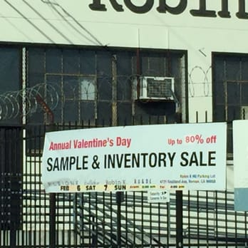 photo of robin k sample sale vernon ca united states annual valentines