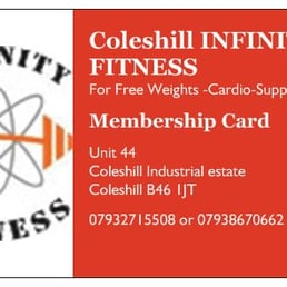 Infinity Fitness Coleshill Infinity Fitness Gym Coleshill