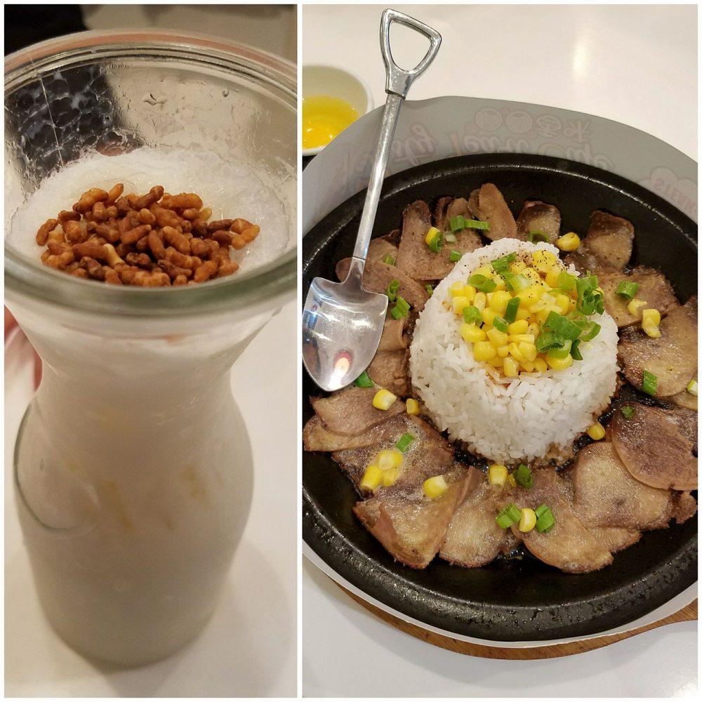 Genmaicha buckwheat milk tea and the beef sizzling pot - Yelp