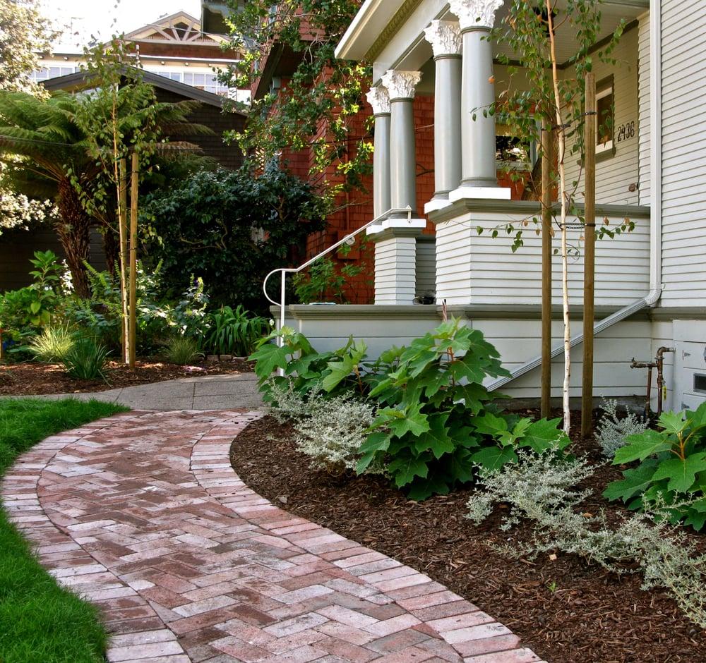Photo Of Hey Nice Garden   Oakland, CA, United States. Lovely Herringbone  Brick